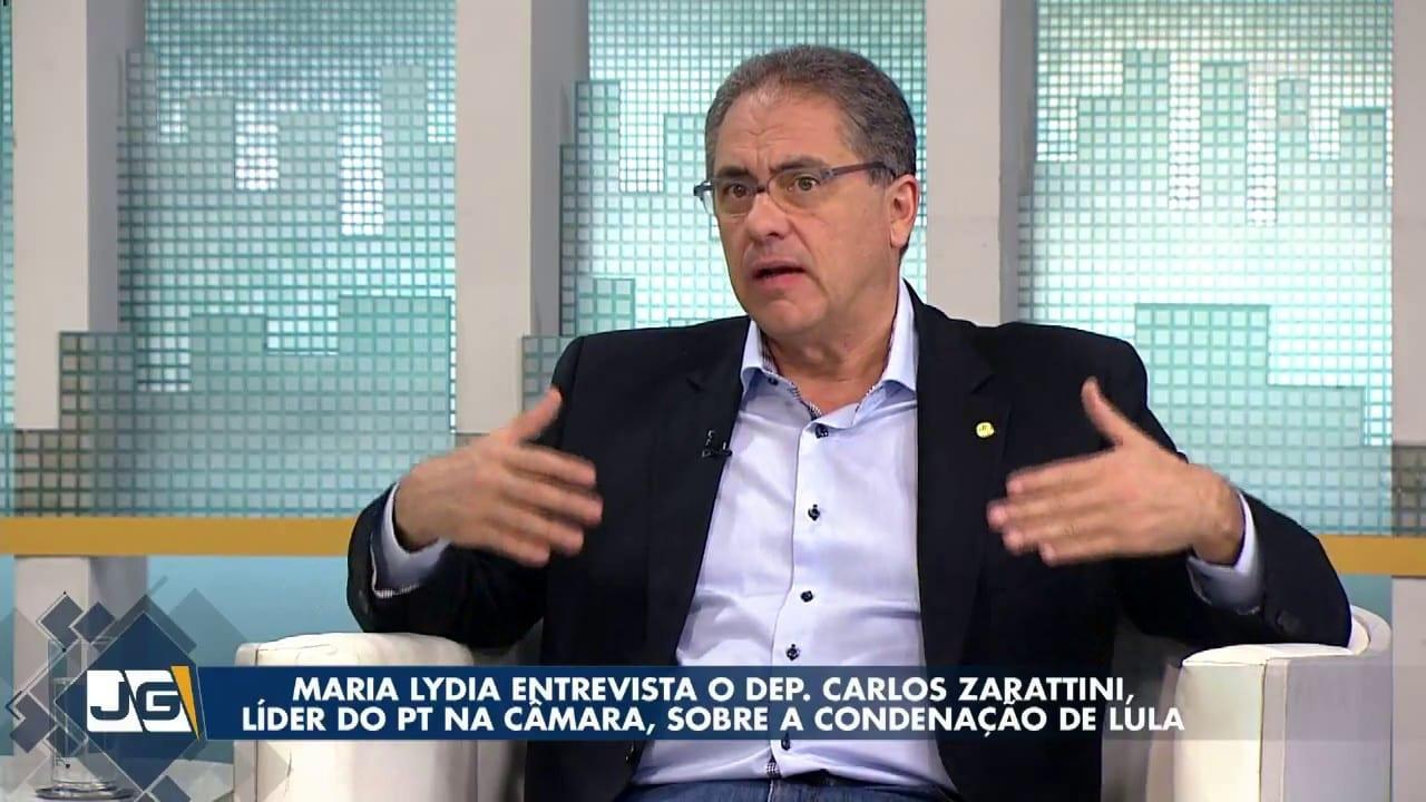 Maria Lydia entrevista o Dep. Carlos Zarattini, líder do PT na Câmara, sobre a condenação de Lula