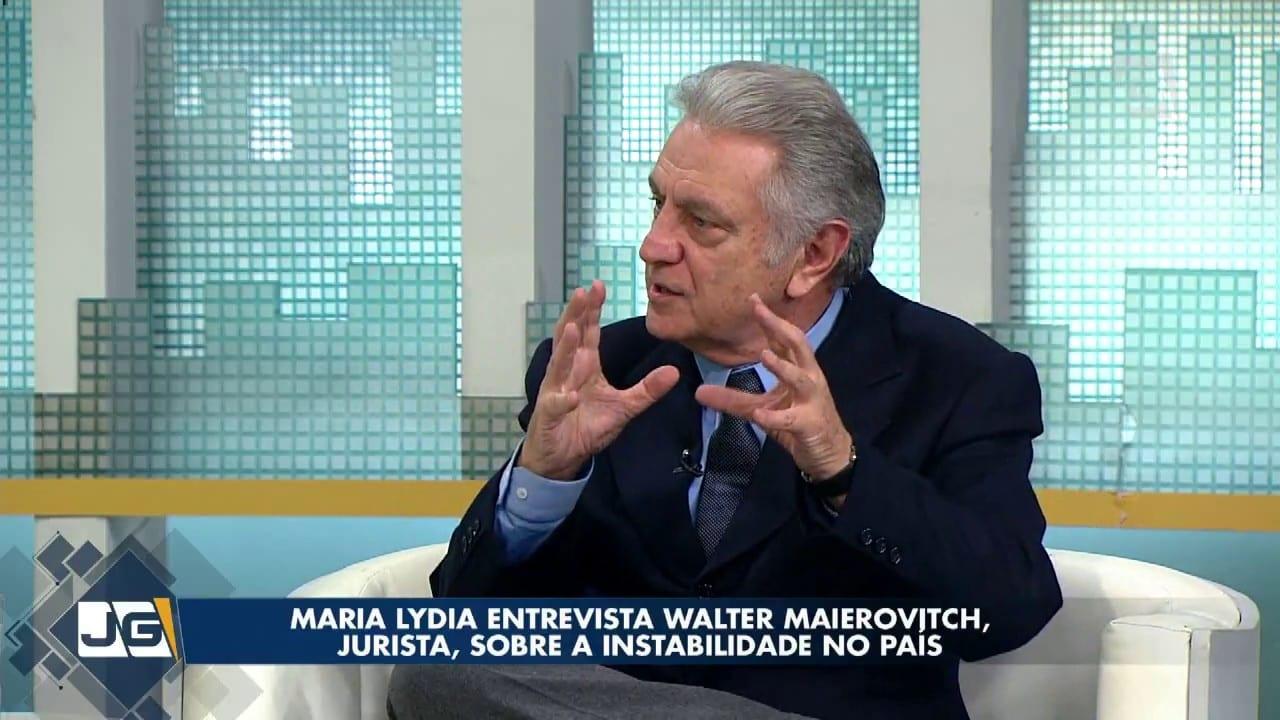 Maria Lydia entrevista Walter Maierovitch, jurista, sobre a instabilidade no País