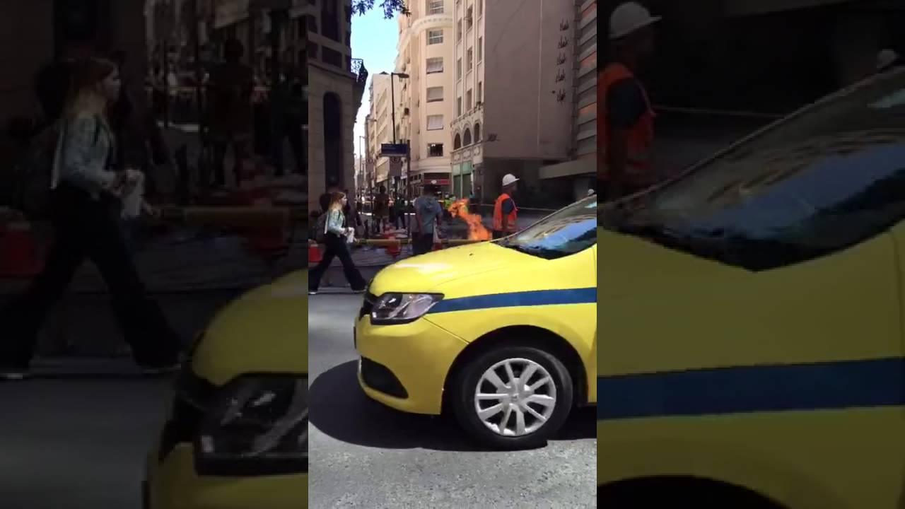 Bueiro tem segunda explosão no mesmo dia, no Centro do Rio